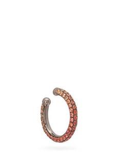 Lynn Ban Orbital sapphire & rhodium-plated ear cuff