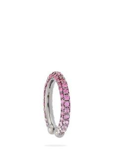 Lynn Ban Orbital sapphire, ruby & rhodium-plated ear cuff