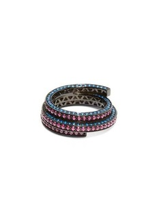 Lynn Ban Sonic lab-sapphire & rhodium-plated ring