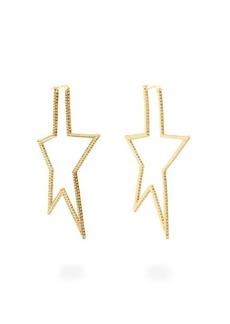 Lynn Ban Star pavé-topaz gold-plated earrings