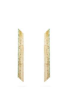 Lynn Ban Waterfall sapphire & gold-plated earrings