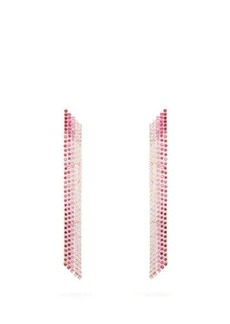 Lynn Ban Waterfall sapphire & rose gold-plated earrings