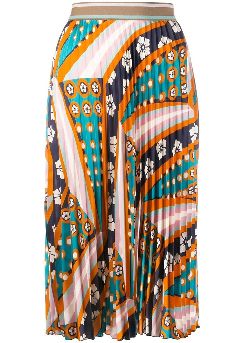 M Missoni patterned pleated skirt