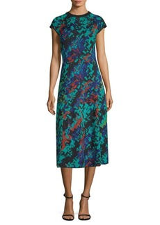 M Missoni Abito Printed Midi Dress