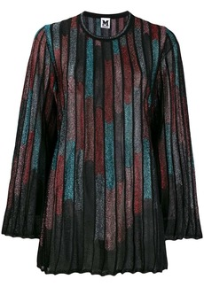 M Missoni abstract print ribbed jumper