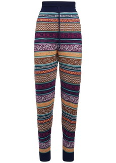 M Missoni All Over Logo Cotton Blend Pants