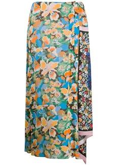 M Missoni asymmetric floral-print skirt
