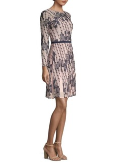 M Missoni Bicolor Wave Print Dress