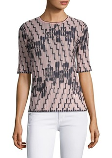 M Missoni Bicolor Wave Print Knit Top