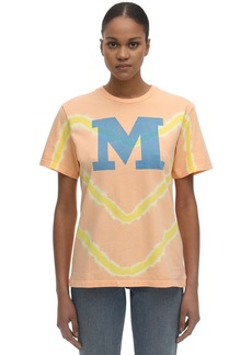 M Missoni Bleached Cotton Jersey T-shirt