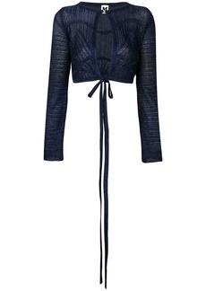 M Missoni blue long sleeved crop top