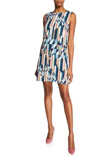 M Missoni Broken Stripe Sleeveless Mini Dress
