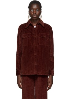 M Missoni Burgundy Corduroy Shirt
