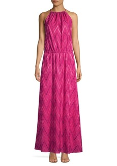 M Missoni Chevron Halter Long Dress