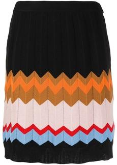 M Missoni chevron-knit skirt