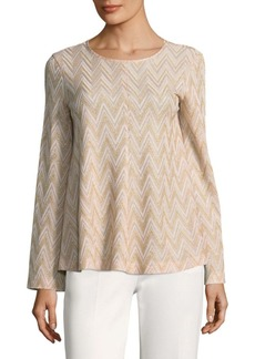 M Missoni Chevron Long-Sleeve Top