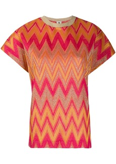 M Missoni chevron-pattern knitted top