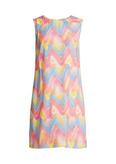 M Missoni Chevron Print Shift Dress