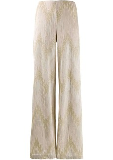 M Missoni chevron wide-leg trousers