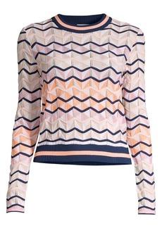 M Missoni Chevron Wool-Blend Knit Sweater