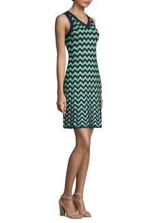 M Missoni Zig Zag Sleeveless Knit Dress