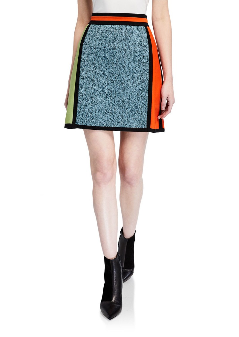 M Missoni Colorblock A-Line Mini Skirt