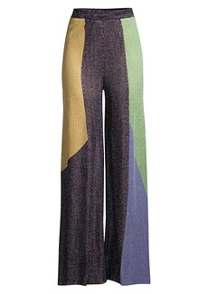 M Missoni Colorblock Knit Wide-Leg Pants
