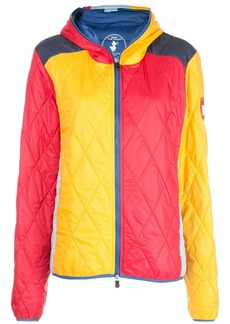 M Missoni colour block quilted jacket