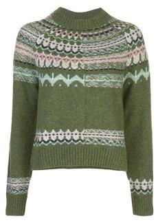 M Missoni cropped patterned jumper
