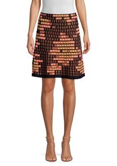 M Missoni Dot Metallic Wool-Blend A-Line Skirt
