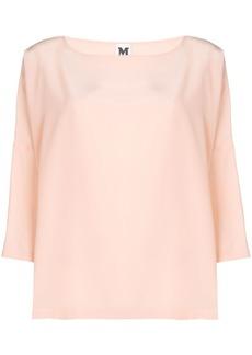 M Missoni draped flared blouse