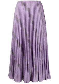 M Missoni embroidered pleated skirt