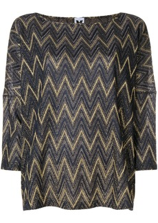 M Missoni embroidered shift blouse