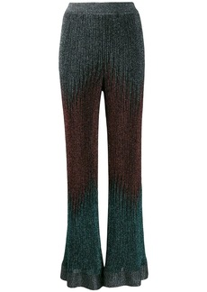 M Missoni flared gradient knit trousers