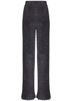 M Missoni Flared Knit Lurex Pants