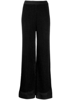 M Missoni flared metallized trousers