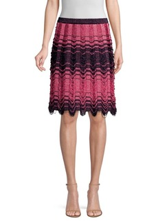 M Missoni Floating Knit A-Line Skirt