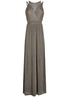 M Missoni Floor-Length Dress with Metallic Thread