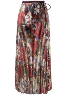 M Missoni floral-print pleated midi skirt