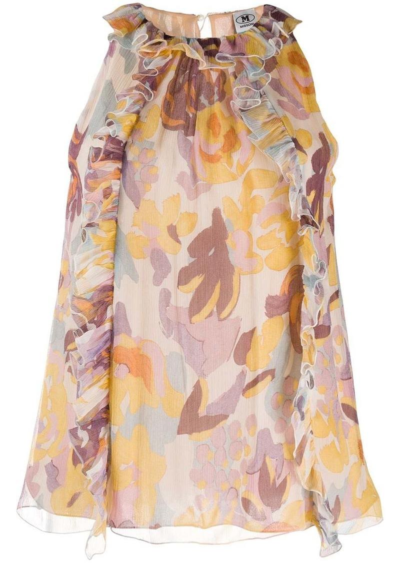 M Missoni floral print sleeveless blouse