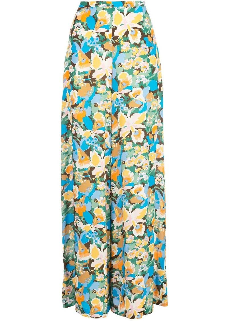 M Missoni floral-print wide-leg trousers