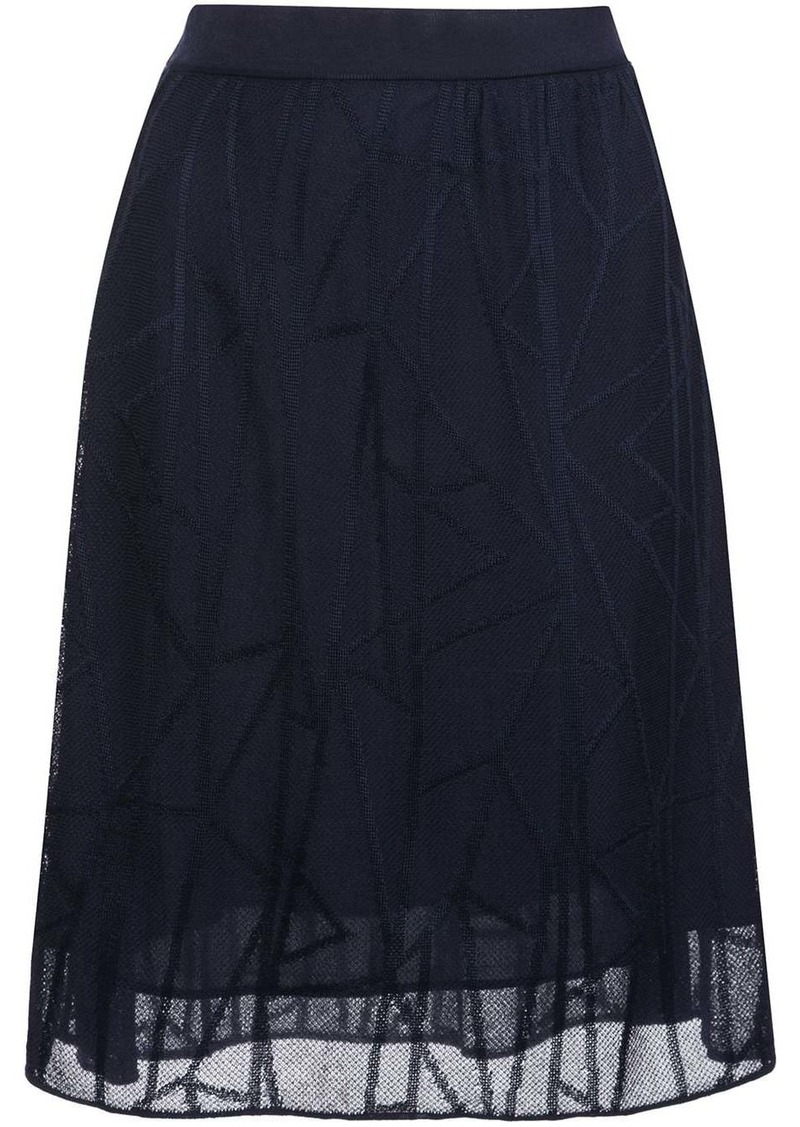 M Missoni geo-stitched high-rise skirt