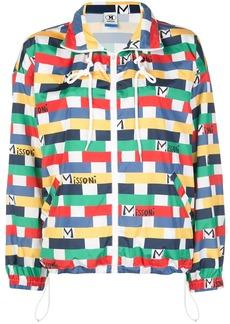 M Missoni geometric logo print jacket