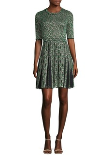 M Missoni Geometric Mesh A-Line Dress