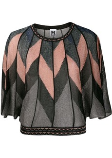 M Missoni geometric paneled top