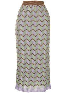 M Missoni geometric-pattern knitted skirt