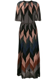 M Missoni geometric pattern long dress