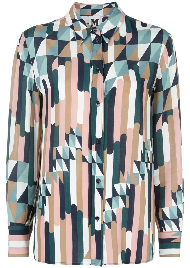 M Missoni geometric print longline shirt