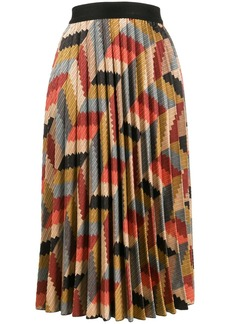 M Missoni geometric print pleated skirt