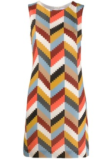 M Missoni geometric silk dress
